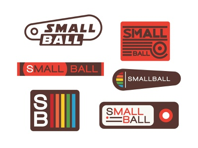 Small Ball retro design retro logo pinball