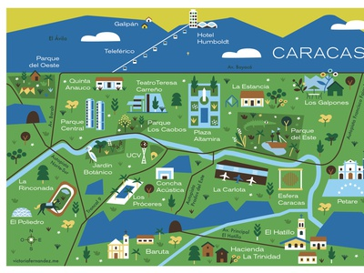 Caracas venezuela caracas map illustration