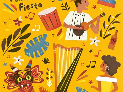 Venezuelan Music folklore music illustration