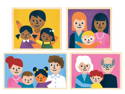 Families family illustration