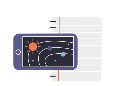 A.school education app product illustration illustration