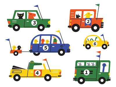 Brmm Brmm children car illustration