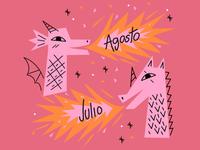 Julio y Agosto