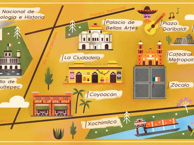 Detail of Mexico for Babbel Magazine