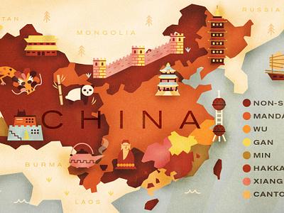 China for Babbel china map illustration