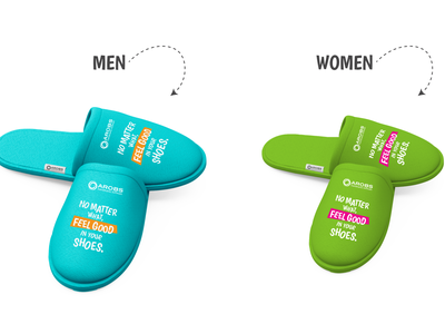 Soft is the new strong-feeling good in our shoes branding design welcoming pack recruitment software development