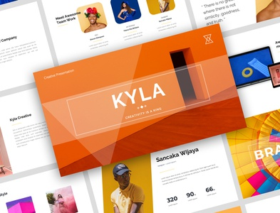Kyla Creative Presentation Design creative design graphicdesign product design layout layoutdesign presentation template presentation design