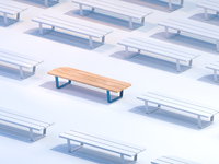 Bench test for stylized house