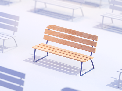 Bench test for stylized house 2