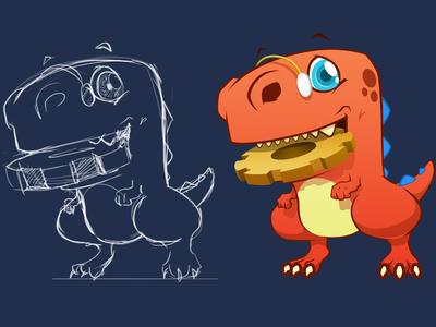 Meet Mr. Wrex visibility widgets plugin wordpress t-rex mascot character