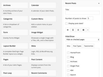 WordPress Better Tabbed Widget Options free widget logic display widgets web elements wordpress widgets