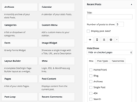 WordPress Better Tabbed Widget Options
