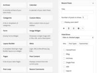 WordPress Better Tabbed Widget Options
