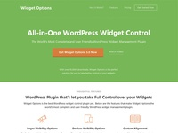 WordPress Widget Options Plugin Landing Page