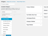 WordPress Live Widget Search Filter