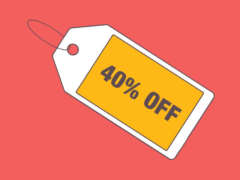 Sale! 40% OFF by Jeffrey Carandang on Dribbble