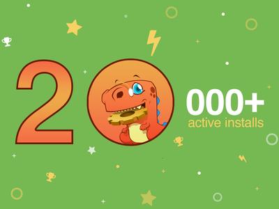 Widget Options for WordPress surpasses 20k active installations! goal achievement wordpress milestone
