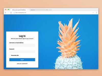 WordPress Admin Login Page white label admin login login form login page sneak peek preview wordpress plugin wordpress branding