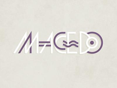 Macedo type logo brand purple typography custom