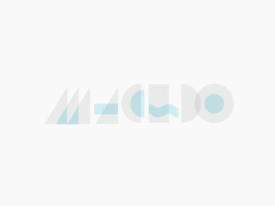 Macedo type design logo branding