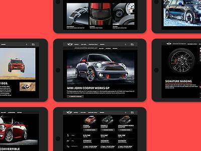 MINIUSA.com Redesign mini miniusa web site responsive adaptive web design turbo speed holes boot stripe