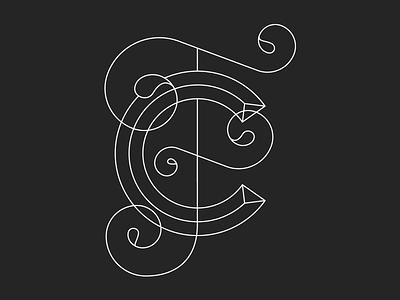 Calvin & Fiona Monogram monogram twins type lettering custom logo calvin fiona