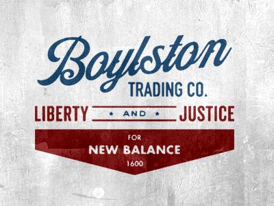 Boylston Trading Co x New Balance logo vintage boylston new balance america  1600 950b3f07d