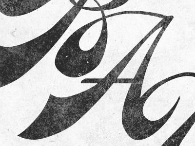 BAU logo type script vintage
