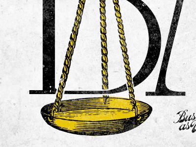 BAU Detail type vintage logo scale