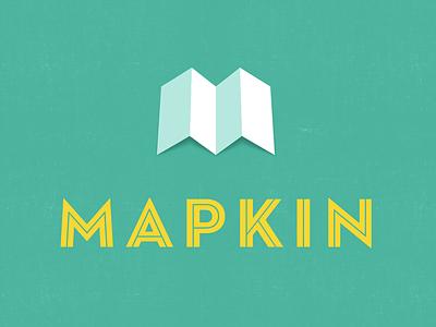 Mapkin logo type icon maps startup