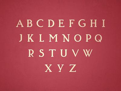 Typeface Progress type font caps lettering
