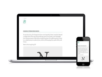 Blog design blog web ui clean