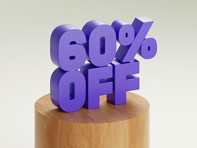 60% OFF blender3d offer banner ui bangalore swiggy 3ddebut debutshot octane raytracing cycles suprdaily cinema4d blender