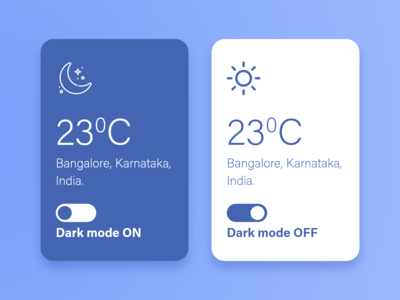Weather app Modes