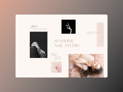 Sunshine nail-studio minimal branding website web uxui ux ui typogaphy fashion design