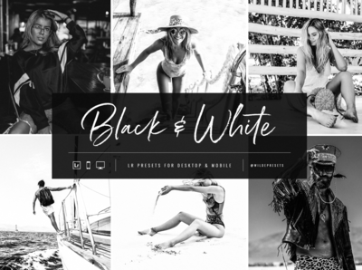 Moody Black And White Lightroom Presets by Wilde Presets