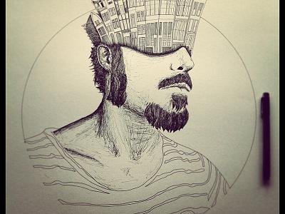 Mind in amsterdam illustration paper pen amsterdam mind