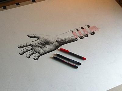 12inchdevotion illustration paper pen hand record vinyl handmade house
