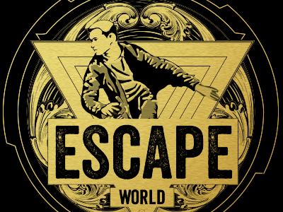Escape World  illustration amsterdam room escape logotype