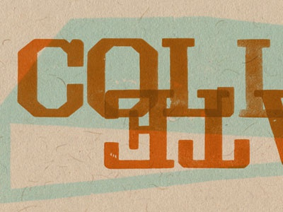Collab-orate letterpress wood type gothic open shaded grecian light face wood type revival