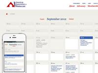 AAHomecare Website Calendar