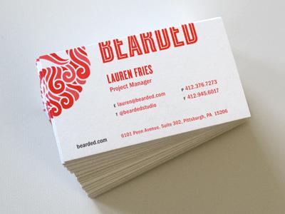 Bearded Card :: Red Version beard bearded business card cyclone