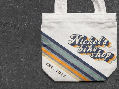Nickel's Bike Shop Canvas Bag