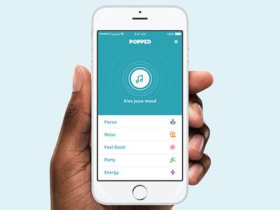 Popped App popped music app app design