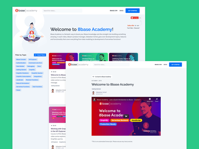 8base Academy academy webflow website design web vector branding