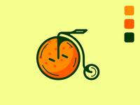 The Orange Penny-Farthing