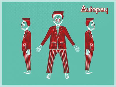 Autopsy Illustration Style illustrator flat branding vector illustration design