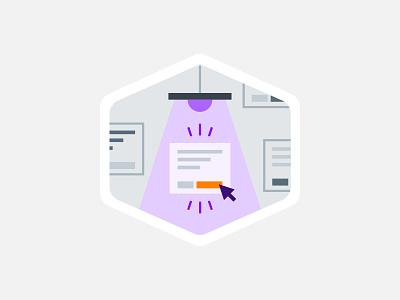 Digital Ad Illustration buy now spotlight illustration digital ad mouse click cta button