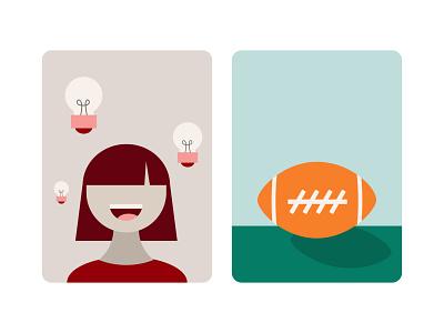 Pinterest illustrations 01 pins sports bangs superbowl football brainstorm ideas smiling woman pinterest