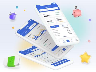 Financing for Contractors Mobile App concept ui payment design tracking app mvp invoice design analytics contractor finance app